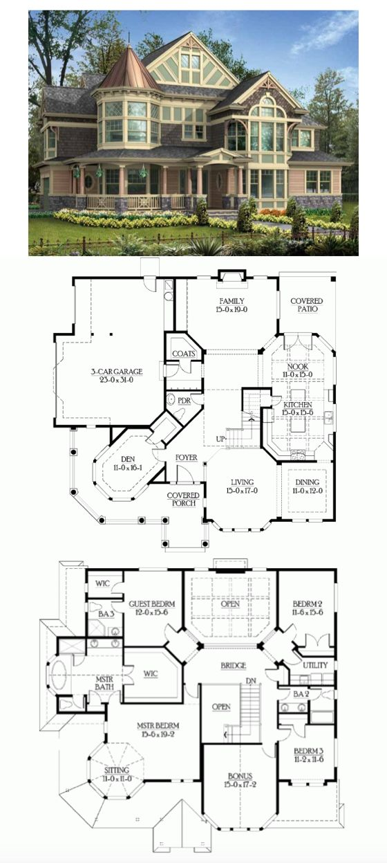 Nice Layout         Victorian House Plan With 3965 Square Feet