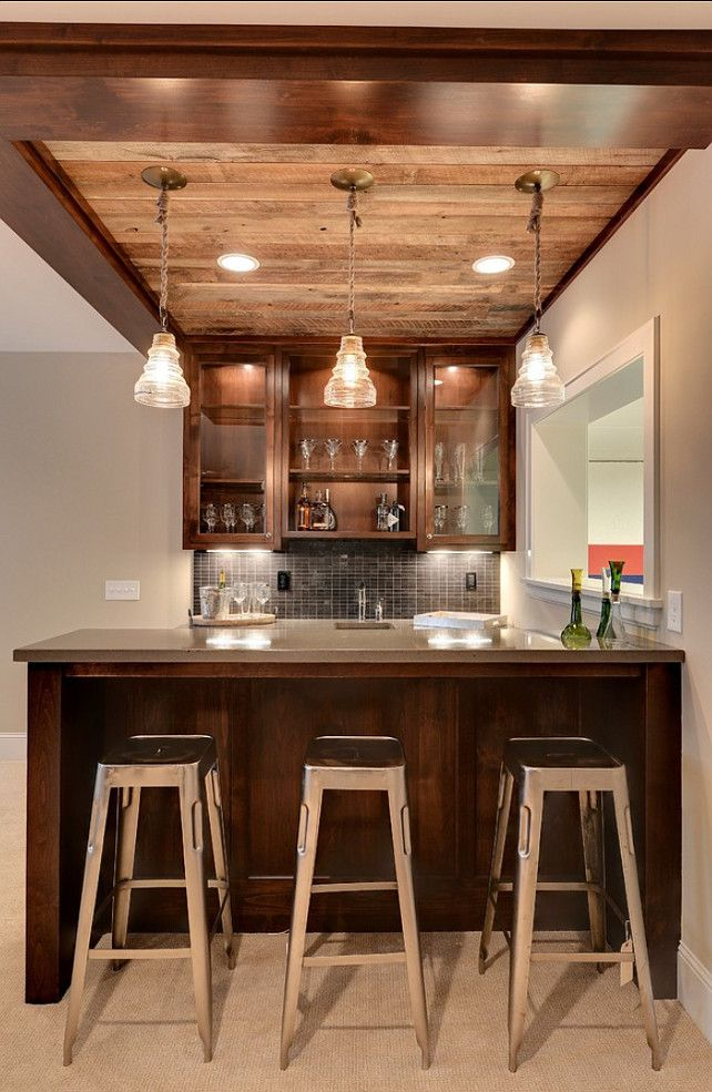 Trendy Family Home - Home Bunch - An Interior Design & Luxury Homes Blog  Beginning inspiration for Chad's wine bar...