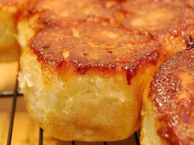 Fried monkey bread buns フライパンモンキー。の画像