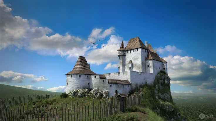 Drégely Castle - 3D reconstruction by Pazirik