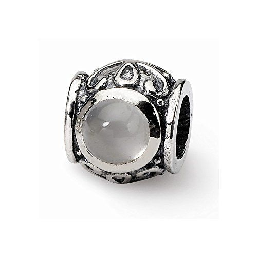 Sterling Silver Reflections Moonstone Bead