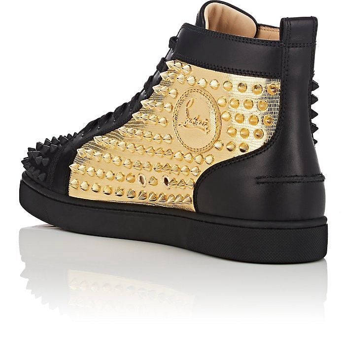 new product 28aa4 dda4a Christian Louboutin Yang Louis Flat Leather Sneakers - 7 M ...