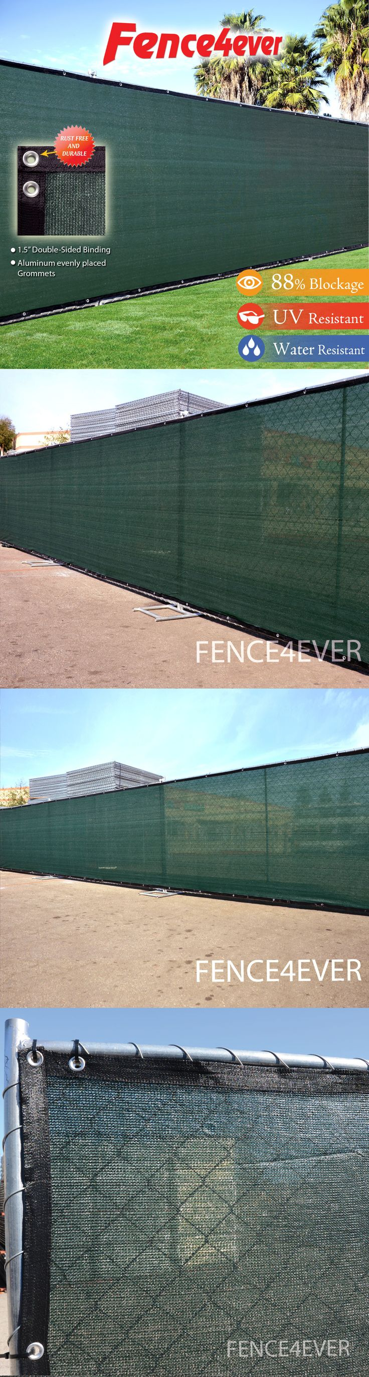 Privacy screen for chain link fence ebay - Privacy Screens Windscreens 180991 Green 6 X25 Fence Windscreen Privacy Screen Shade Fabric Cover Mesh