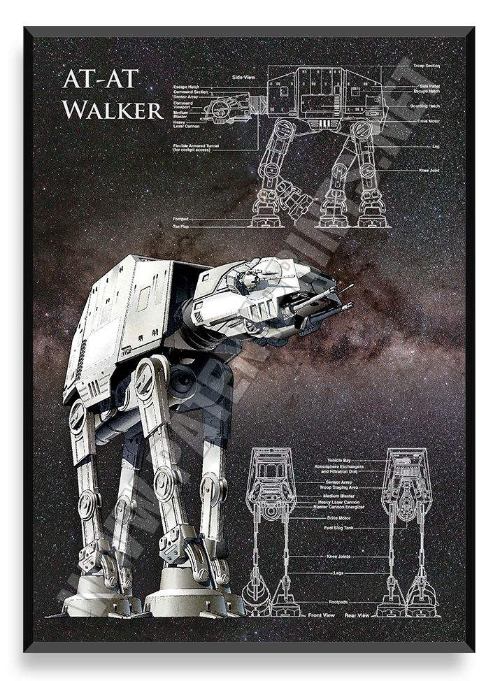 AT-AT Walker, Star Wars Poster