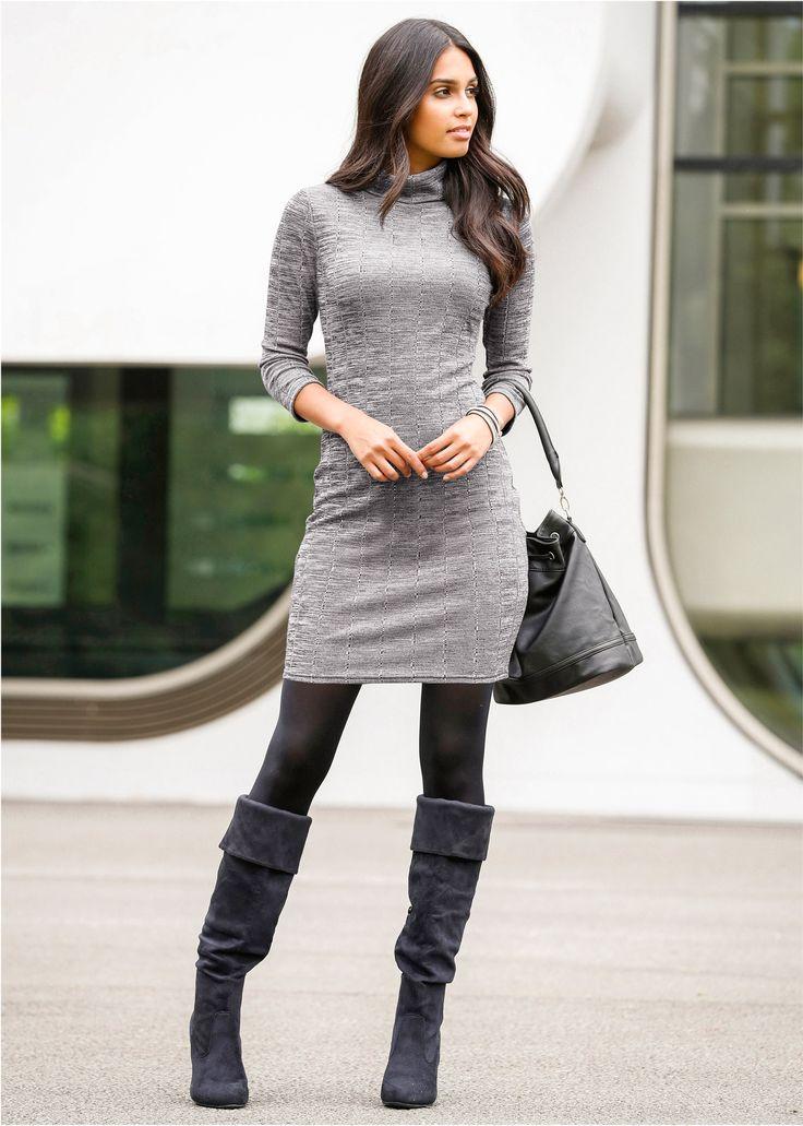 Kleid grau meliert
