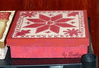 napkin & fabric decupage + paint on mdf box