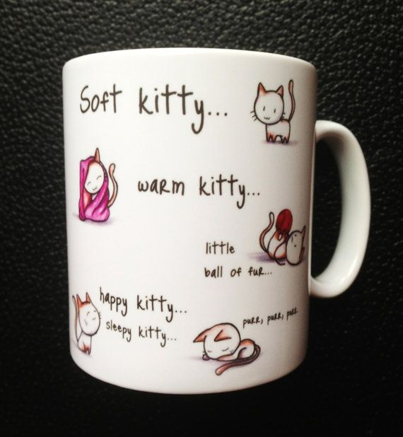Soft Kitty Mug with Personalised Name or message by Hx5Designs, £6.99