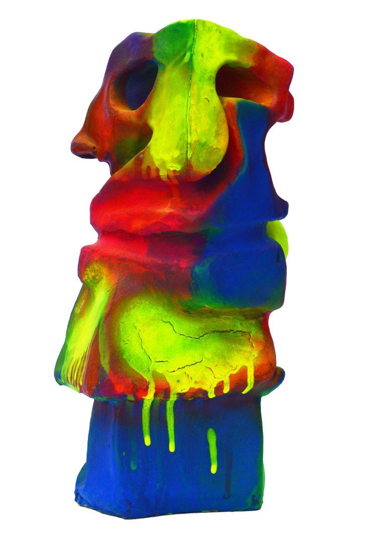 Elefante de Circo Neón / Neon Circus Elephant Light Off 2016  25 x 8 x 11 cm Resina y aerosol / Resine and neon spray