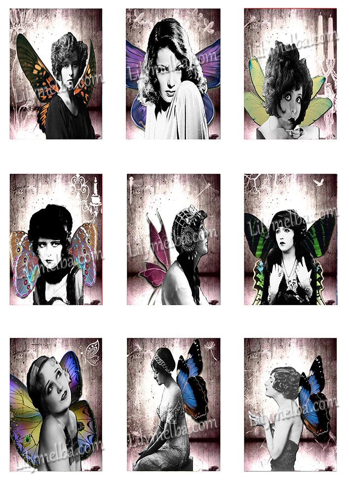 Artist Trading Card women 3..... A4 digital download collage sheet... by Lilysart1 on Etsy