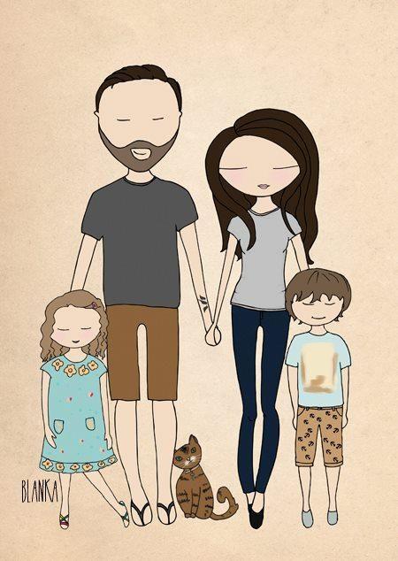 Imagen, ilustración, Familia 8