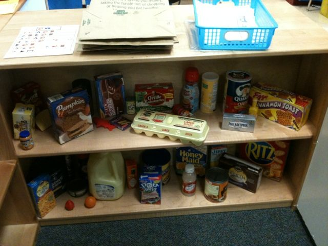 Grocery store - shopping list activity in the classroom