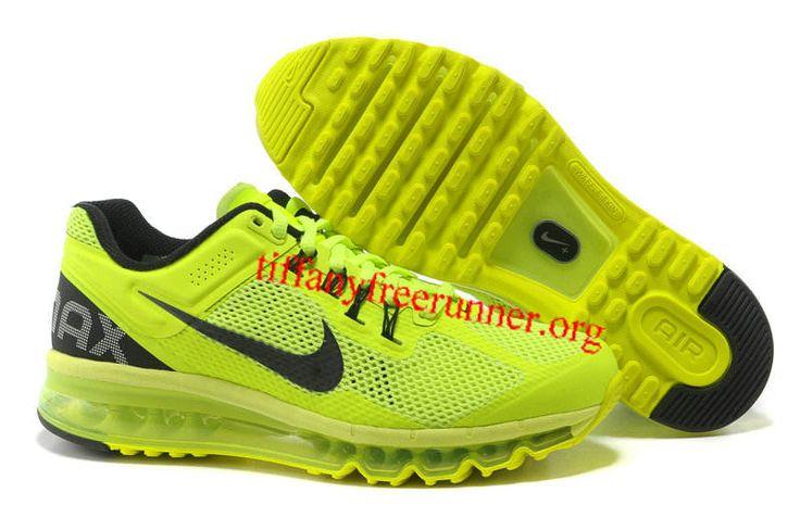 Mens Nike Air Max 2013 Volt Black Shoes
