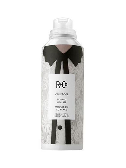 Curly Hair Care Routine - R + Co Chiffon Styling Mousse