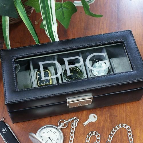 Personalized Engraved Watch Display Case