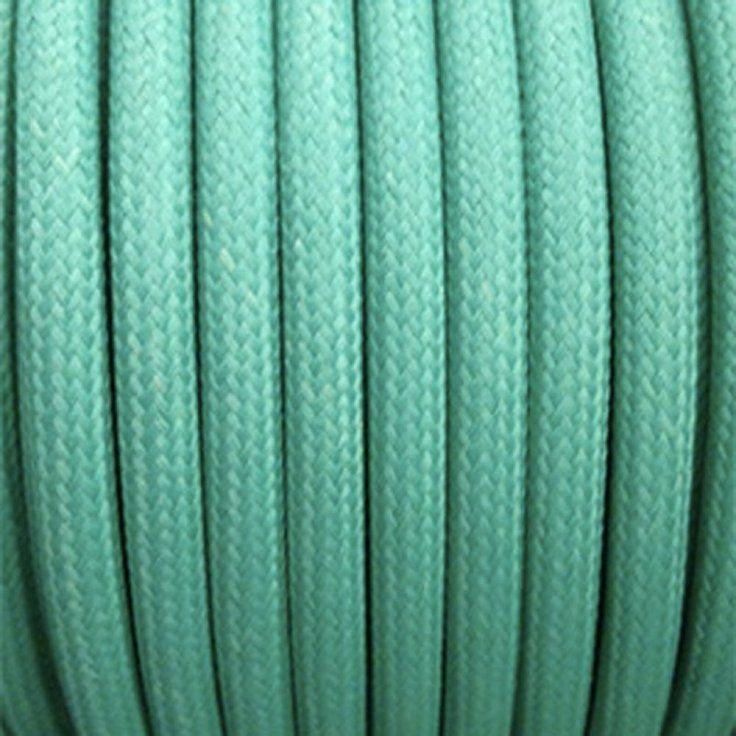Câble électrique textile - Fil électrique tissu Vert Turquoise