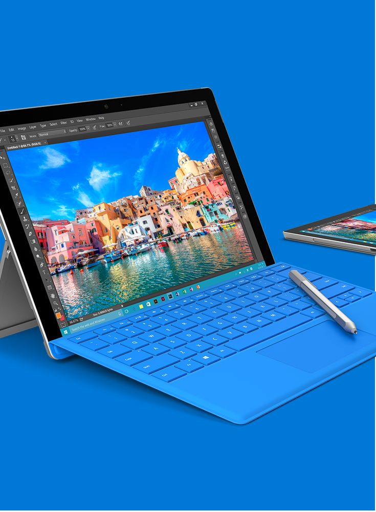 Surface Pro 4 with Surface Pen is a mobile workstation that easily allows you to run multiple programs.