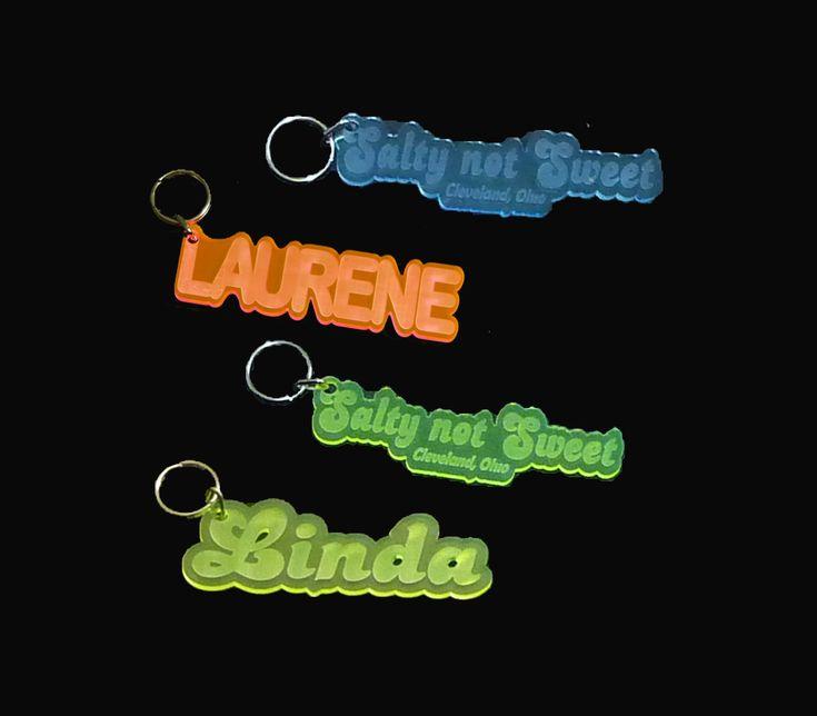 Custom Engraved Acrylic #KeyChains, #KeyRings, #KeyTags, Keychains - Unique LED Products Engraved Acrylic