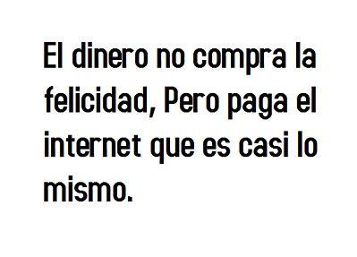 Felicidad = Internet