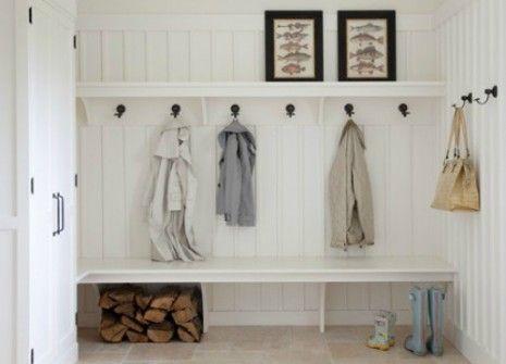 coat room, organized