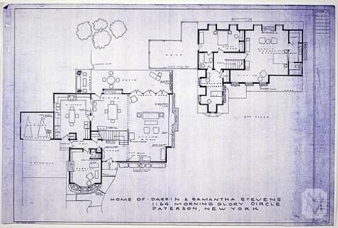 Bewitched floorplan: Building, Crossword Puzzles, House Blueprint, Country House, Bewitch House, House Floors Plans,  Crossword, Bewitch Floorplan, House Plans