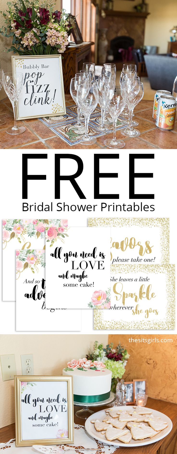 Beautiful bridal shower ideas for food, decor, and games. Plus a packet of free bridal shower printables to use for your next party. #BridalShowerFavors
