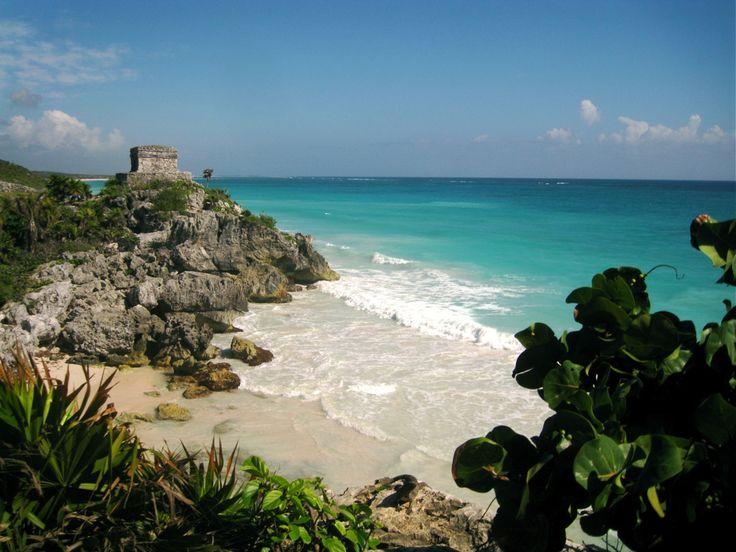 Tulum ruins and beach, Mexico: Favorite Places, Tulum Mexico, Riviera Maya Mexico, Mexicans Maya, Beautiful Places, Mayan Riviera, Maya Riviera, Mayan Ruins, Tulum Ruins