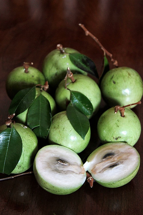 Kaimitos or star apples. We used to eat these fresh from the tree in our back yard.