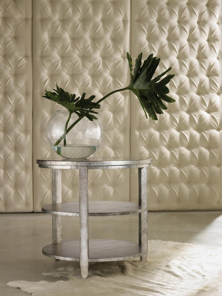 Mélange Metallic Maverick Round Top Table With 2 Shelves By Hooker Furniture    Barrow Fine Furniture