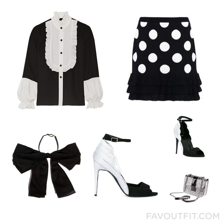 Ootd Post Featuring Anna Sui Blouse Polka Dot Skirt Yves Saint Laurent And Black Block-Heel Sandals From November 2016 #outfit #look