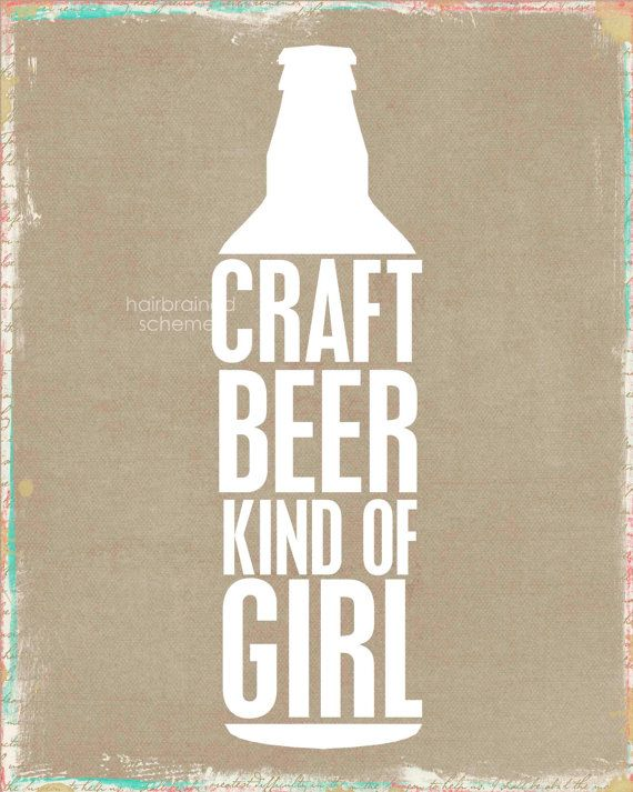The perfect gift for that special lady in your life #CraftBeer #ArtPrint #Girl