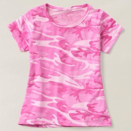 Custom Trendy Pink Camouflage T-shirt