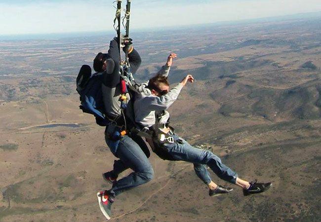 Be adventurous and do a Tandem Skydive with EP Skydivers