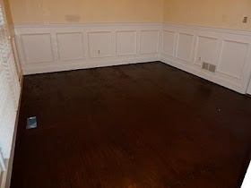 How to stain a subfloor to look like hard wood! I could not believe this when I read it!