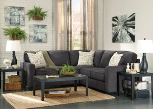 Alenya Charcoal LAF Sectional By Ashley   Donu0027t Pay Anything For Shipping  And Get A Great Affordable Price, Now From Coleman Furniture.