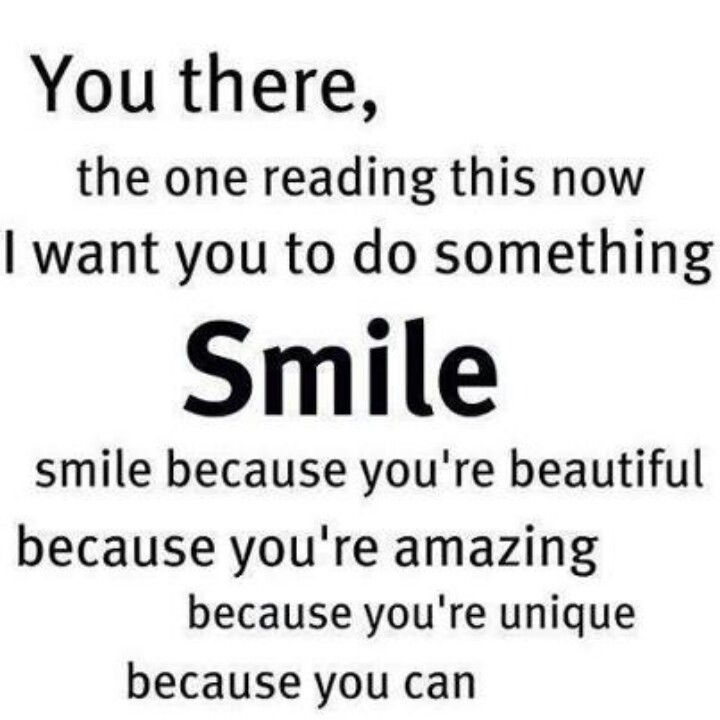 Smile You Quotes: Smile Because You're Beautiful.