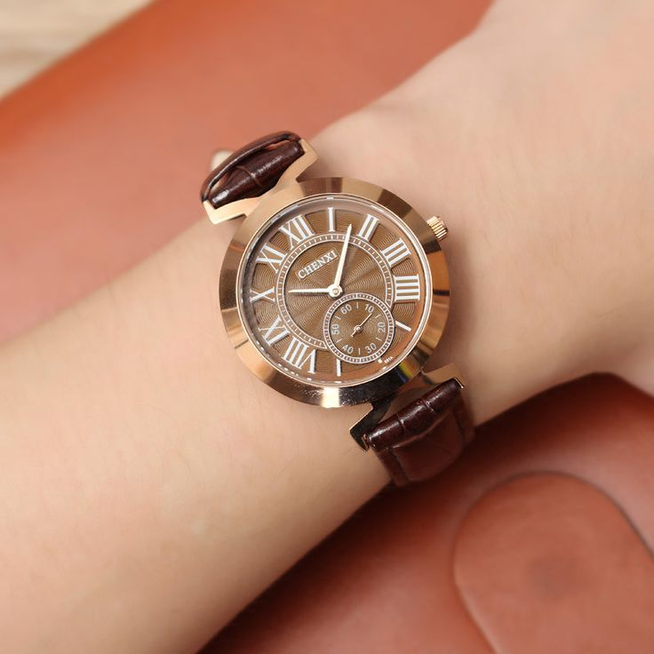 CHENXI Unisex Watch Casual Leather Two Dial Watch  #watches