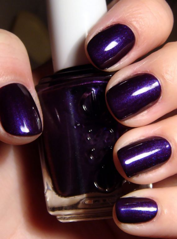 essie in sexy divide - truly my favorite purple nail polish.