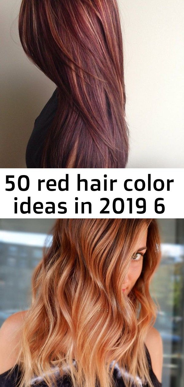 50 Ideen für rote Haarfarben im Jahr 2019 6