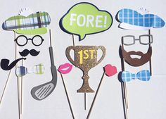 Golf Themed Photo Booth Props Golf Birthday by LetsGetDecorative