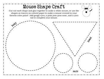 This super fun craft will reinforce shapes and cutting practice while creating a cutie of a mouse.  This is a FREEBIE from my full Mouse Paint Pres...