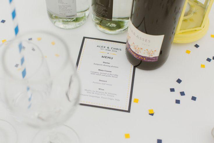 Small wedding breakfast menus