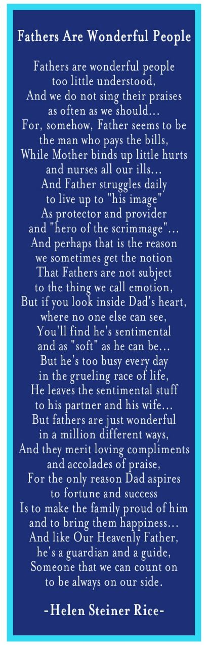 Free Father's Day Poem with Ideas for acting it out to Dad! Blessed to hav...