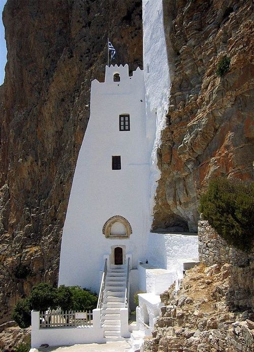 Greece -Hozoviotissa Monastery on the Amorgos island