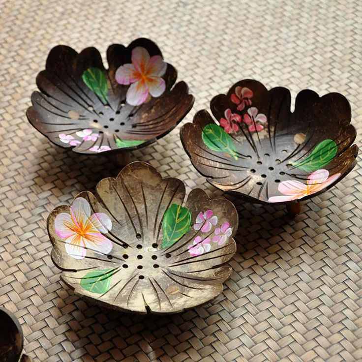 Thailand imported handmade coconut shell crafts painting soap box soap dish soap dish soap box creative household-in Bamboo Flooring from Home Improvement on Aliexpress.com | Alibaba Group