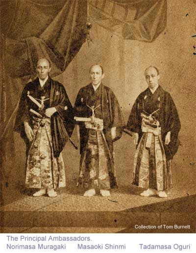 Three ambassadors, members of the first embassy of Japan to the United States,1860.