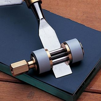 Serious craftsman find the Richard Kell British-Made Deluxe Honing Guides indispensable