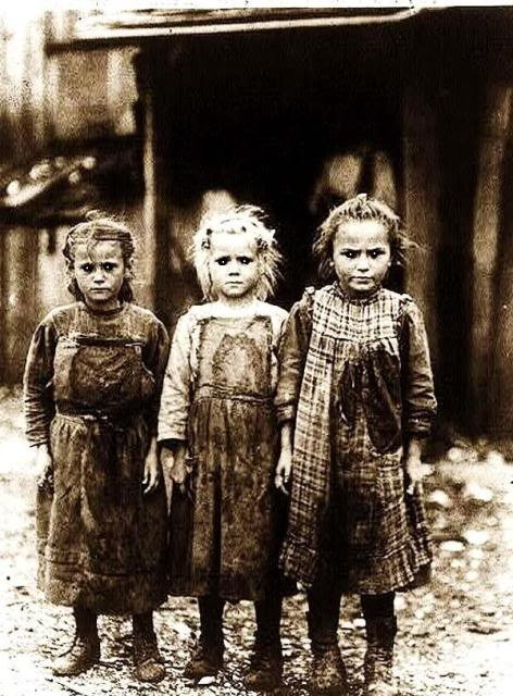 Oyster shuckers. Harsh working conditions often left these children injured, sometimes dead.