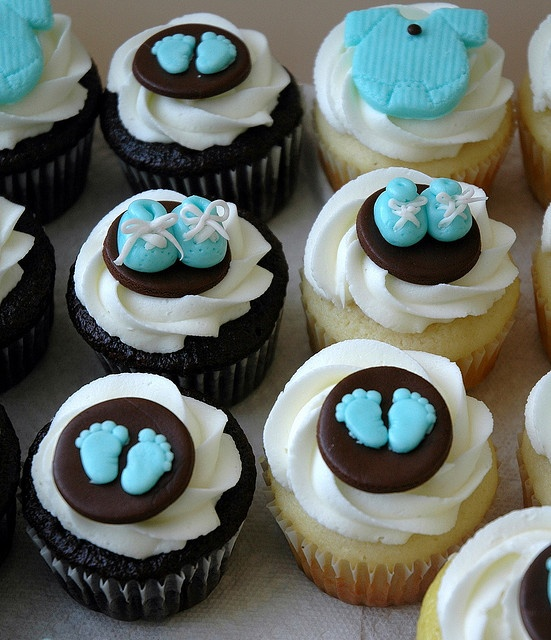 Baby Shower Cupcakes - Jackie I love these too. thoughts - of course Pink though