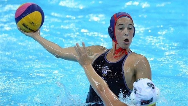 19 year old Maggie Steffens Scores 7 goals in the first Womens #US #WaterPolo game against #Hungary.