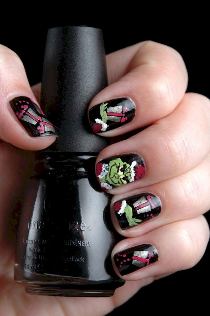 45 best Winter/Holiday Nails images on Pinterest | Holiday nails ...